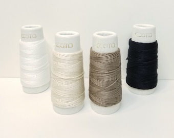 Lecien Cosmo Hidamari sashiko thread - Neutral hued solid colors - 30 meter skein
