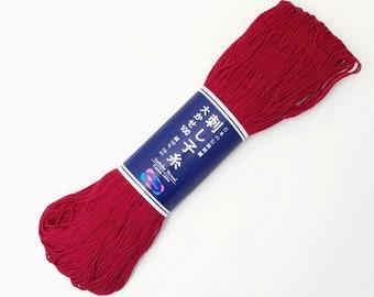 Sashiko thread - Red Rose color # 104 - 100 meter skein
