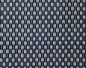 Japanese import new cotton quilting fabric - blue black arrows