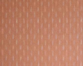 Japanese import new cotton fabric - Morikiku Japan arrow dobby in muted pink - brown
