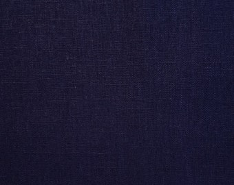 True indigo dyed cotton and linen blend sashiko embroidery fabric