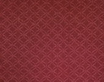Japanese import new cotton fabric - Morikiku jacquard shippo circles in brick red