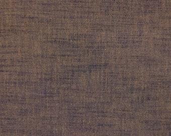 Botanical indigo and persimmon dyed Japanese aizome kakishibu cotton fabric