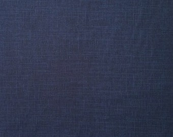Japanese import New indigo colored cotton quilting fabric - variegated indigo blue