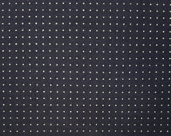 Olympus dark navy pre-printed wash-away dot grid sashiko fabric - by the yard