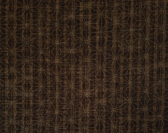 Sevenberry Japan Sevenberry Nara Homespun Collection - espresso brown asanoha hemp leaf cotton