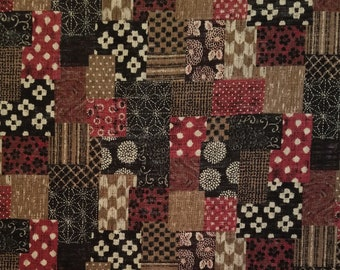 Sevenberry Japan Sevenberry Nara Homespun Collection - brick red patchwork cotton