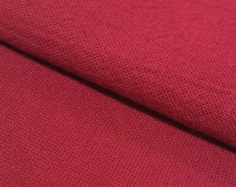 Olympus Japan Azumino-momen hand dyed cotton fabric - Red color