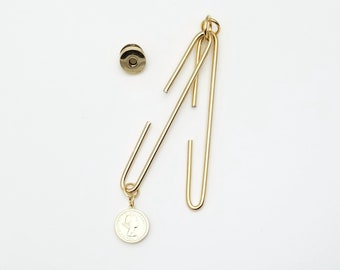 Metallic gold 4 inch (10cm) Slide Clasp with magnetic snap - made in Japan