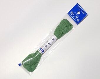 Olympus Sashiko thread - Green color #7 - 20 meter skein