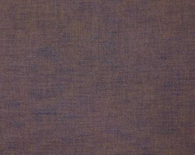 Featured listing image: Botanical indigo and persimmon dyed Japanese aizome kakishibu cotton fabric
