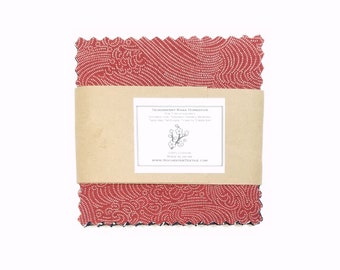 Ten precut 5 inch squares of Sevenberry Nara Homespun cotton
