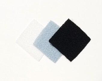 30 - precut 20mm squares for Tsumami Kanzashi - white and black hues