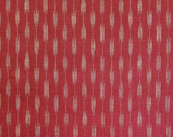 Japanese import new cotton fabric - Morikiku Japan arrow dobby in red