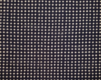 New, Quilt Gate cotton canvas fabric - Hyakka Ryoran Indigo II Mameshibori dot pattern