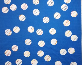 Large, 32 inches (81 cm), Japanese cotton furoshiki wrapping cloth -  temari balls