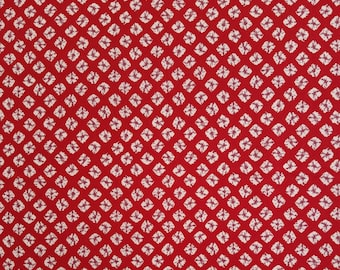 Yamaoka Japan red faux shibori cotton fabric - by the yard