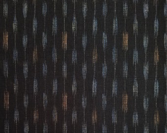 Japanese import new cotton fabric - Morikiku Japan arrow dobby in black