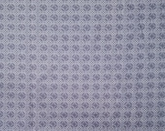 Vintage, Steel Gray colored, Japanese cotton eyelet fabric  - by the yard