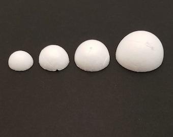 20 - precut half-round styrofoam bases for Tsumami Kanzashi