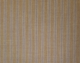 Vintage, wool blend striped suiting fabic  - 47 inches (119.4 cm) remnant