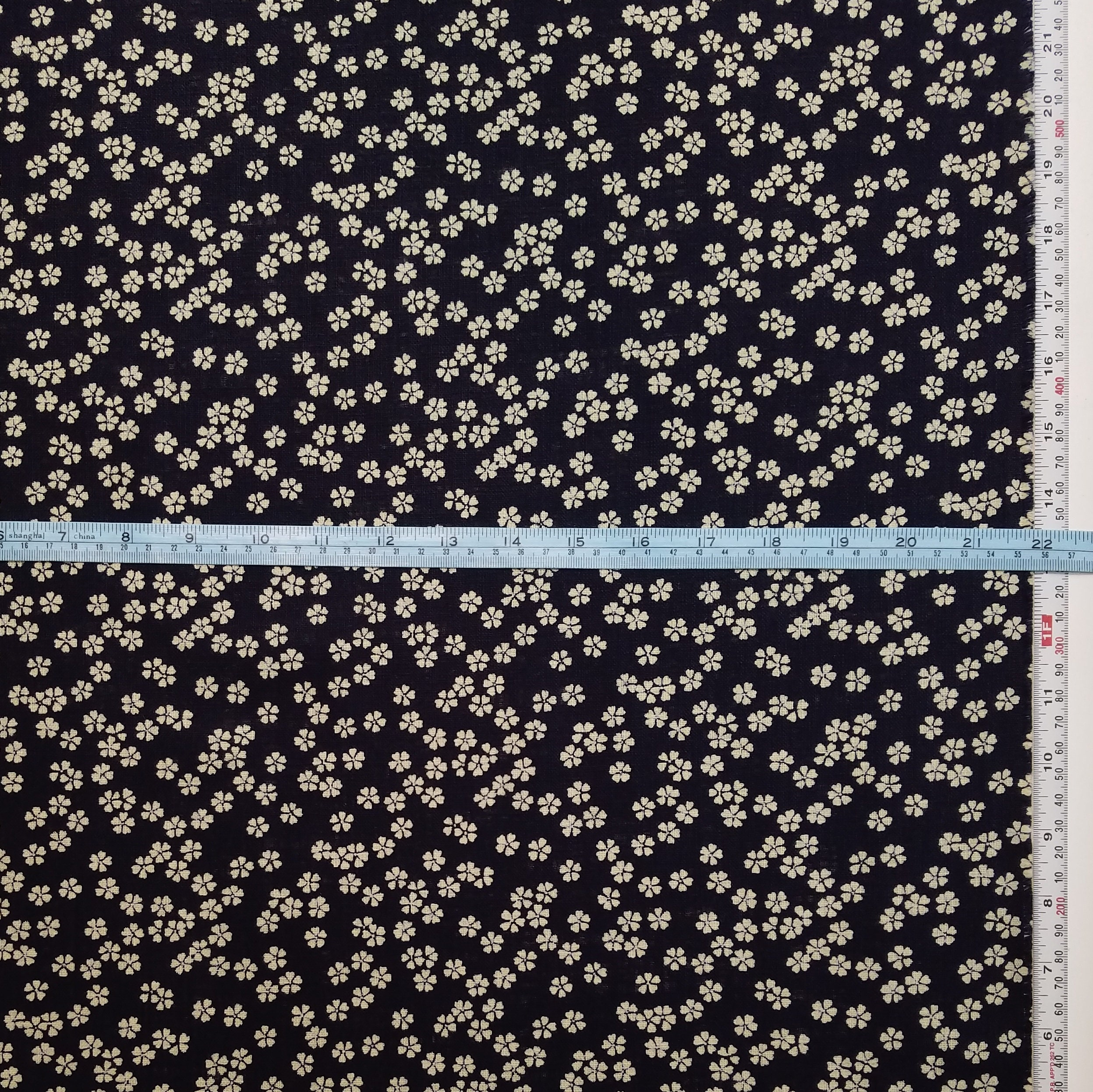 Fat Quarter Navy 7 #11 Canvas Japanese Fabric Sevenberry Solid Color