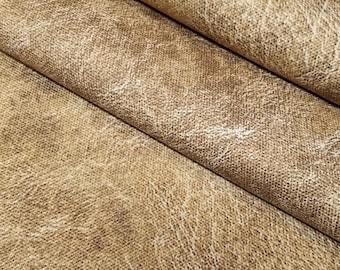 Lecien Japan M Standard collection- light beige faux leather cotton canvas oxford fabric
