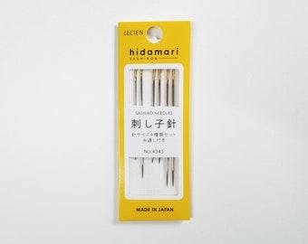 Lecien Cosmo hidamari sashiko hand stitching needles - 6 needles - assorted sizes