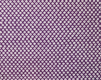 Cosmo Japan violet purple and white faux shibori cotton fabric - by the yard