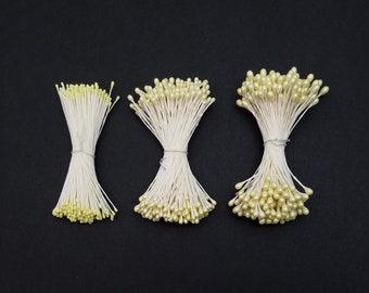 Flower stamens for Kanzashi Tsumami - yellow hues
