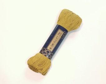 Yokota Gold #3 thin sashiko thread - 170 meter skein