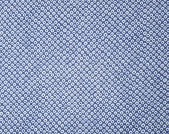 Japanese import new cotton fabric - Sevenberry Shibori Blues kanoko in blue