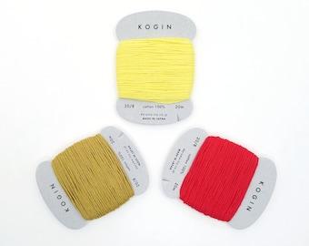Daruma 20/8 kogin thread - warm hued solid colors - 20 meter skein