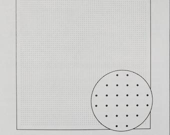 Olympus sashiko pre-printed wash-away pattern sampler for hitomezashi - Grid pattern - 6 colors