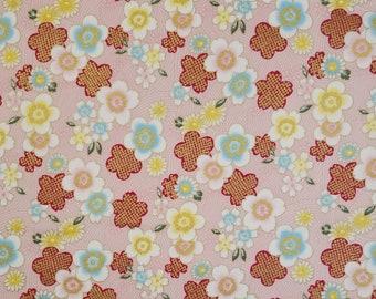 Sevenberry Japan Sakura Brook Metallic Collection - Pink Sakura Floral cotton fabric