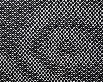 Cosmo Japan black and white faux shibori cotton fabric - by the yard