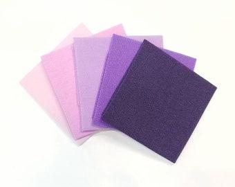 22 x 33cm piece of  Hitokoshi Chirimen crepe fabric for Tsumami Kanzashi - Pink and Purple hues