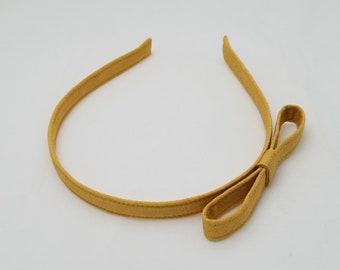 Vintage kimono fabric hairband headband - Sparkly, golden orange silk