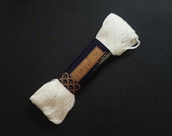 Yokota off-white #2 thin sashiko thread - 170 meter skein