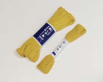 Sashiko thread - Goldenrod color # 5/106 - 20 or 100 meter skein