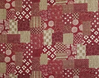 Sevenberry Japan Sevenberry Nara Homespun Collection - brick red patchwork cotton