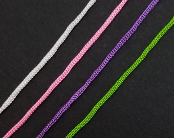 Inazuma Japan tsumami kanzashi cording Karauchi  - white, green, pink or purple color