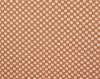 Japanese import new cotton fabric - Morikiku Japan plum blossom ume dobby in muted pink brown
