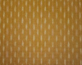 Japanese import new cotton fabric - Morikiku Japan arrow dobby in Bronze brown hue