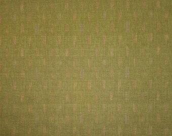 Japanese import new cotton fabric - Morikiku Japan arrow dobby in green