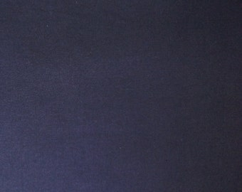 Japanese import New indigo colored cotton quilting fabric - solid deep indigo blue