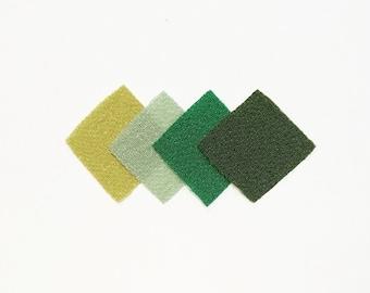 30 - precut 20mm squares for Tsumami Kanzashi - Green hues