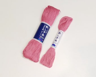 Sashiko thread - Rose Pink color #13/110 - 20 or 100 meter skein