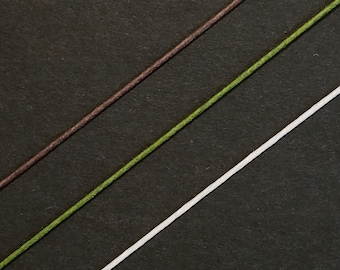 Floral stem wire for Kanzashi Tsumami - white, green or brown
