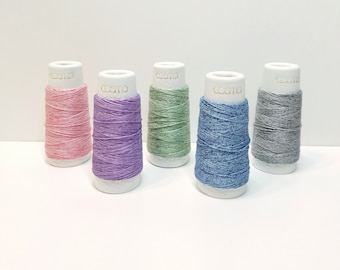 Lecien Cosmo Hidamari sashiko thread - mélange variegated colors - 30 meter skein